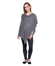 Tiara Maternity & Nursing Poncho Cum Shrug - Grey