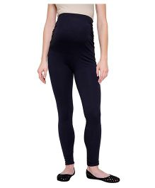 Tiara Maternity Stretch Leggings - Navy