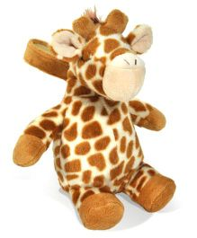 Cloud B Battery Operated Giraffe Soft Toy Brown - Height 31.5 cm