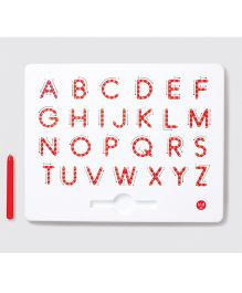 Kid O A To Z Upper Case Magnetic Tab  - White Red