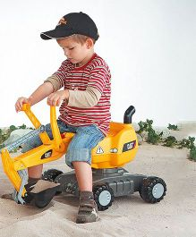 Rolly Toys Digger Cat Tractor Ride On - Yellow