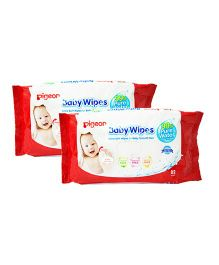 Pigeon Baby Wipes Water Base Pack of 2 - 82 sheets Each