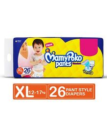 MamyPoko Standard Pant Style Diaper Extra Large Size - 26 Pieces