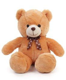 Dimpy Stuff Teddy Bear Soft Toy With Bow Brown - 50 cm