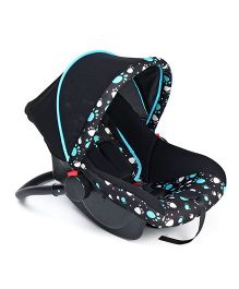 Rear Facing Car Seat Cum Carry Cot Paw Print - Black Blue