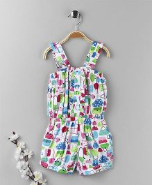 ToffyHouse Singlet Jumpsuit Bags Print - Multi Color