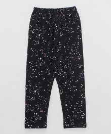 Smarty Full Length Leggings Star Print - Black