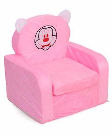 Lovely Kids Sofa Chair Mickey Mouse Embroidery - Pink