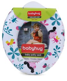 Babyhug Potty Seat Floral Print - White
