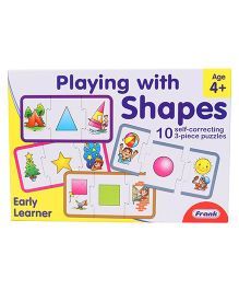 Frank Playing With Shapes Self Correcting Puzzle 30 Pieces - Multicolour