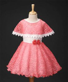 Enfance Cape Style Dress - Peach