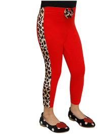 D'chica Love Her Style Leggings  - Red