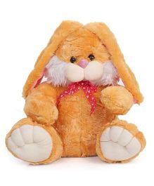 Liviya Bunny Soft Toy With Bow Light Brown - Height 37.5 cm