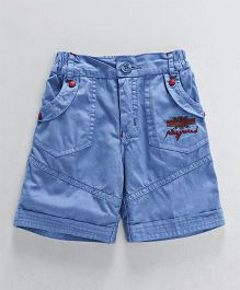 Olio Kids Solid Color Shorts - Blue