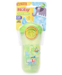 Nuby No Spill Insulated Soft Sipper JCB Print - 270 ml