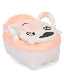 Baby Potty Chair Animal Shape With Handle - Peach