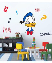 Orka Digital Printed Angry Donald Duck Design Wall Sticker - Multi Colour