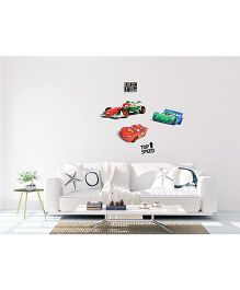 Orka Digital Printed Pixar Car Design Wall Sticker - Multi Colour