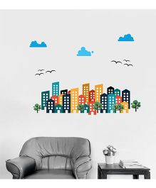 Orka Digital Printed Apartment Design Wall Sticker - Multi Colour
