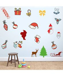 Orka Digital Printed Christmas Accessories Design Wall Sticker - Multi Colour