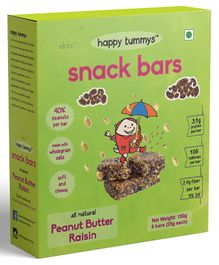 Happy Tummys Peanut Butter Raisin Nutritional Snacks Bar Pack of 5 - 125 gm