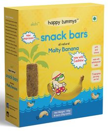 Happy Tummys Malty Banana Nutritional Snacks Bar Pack of 5 - 125 gm