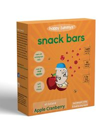 Happy Tummys Apple Cranberry Nutritional Snacks Bar Pack of 5 - 125 gm
