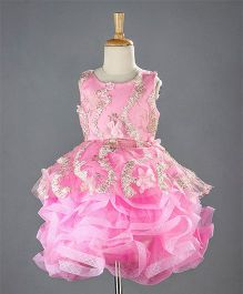 M'PRINCESS Frilly Party Wear Dress - Pink