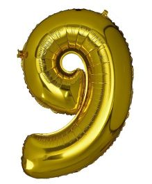 Smartcraft Foil Balloon Number 9 Shape - Golden