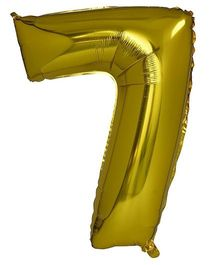Smartcraft Foil Balloon Number 7 Shape - Golden