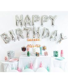 Smartcraft Happy Birthday Letter Foil Balloon - Silver