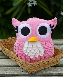My Gift Booth Cushion Owl Shaped - Pink