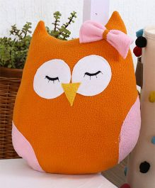 My Gift Booth Cushion Owl Shaped With Filler - Orange