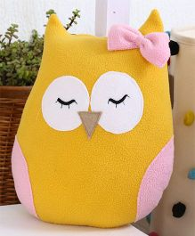 My Gift Booth Cushion Owl Shaped With Filler - Yellow