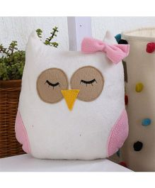 My Gift Booth Cushion Owl Shaped With Filler - White