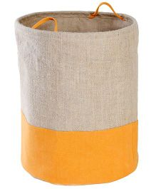 My Gift Booth Collapsible Jute Storage Bag - Orange