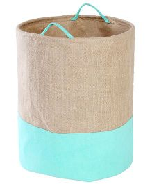 My Gift Booth Collapsible Jute Storage Bag - Sea Green