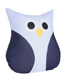 My Gift Booth Denim Finish Cushion Owl Shaped - Blue