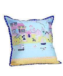 My Gift Booth Cushion Cover Sea Print - Blue