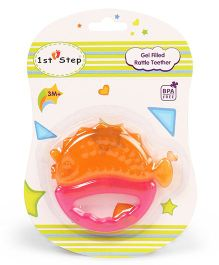 1st Step Gel Filled Teether with Rattle - Orange