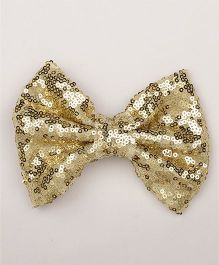 Pikaboo Big Sequin Bow Clip - Golden