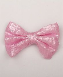 Pikaboo Big Sequin Bow Clip - Baby Pink