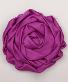 Pikaboo Rolled satin Rose Clip - Violet