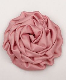 Pikaboo Rolled satin Rose Clip - Pale Chestnut