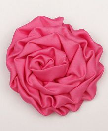 Pikaboo Rolled Satin Rose Clip - Fuchsia