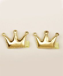 PIKABOO Pack Of 2 Soft Crown Clips - Golden