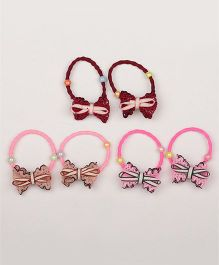 Pikaboo Set Of 3 Ponytail Holders - Multicolor