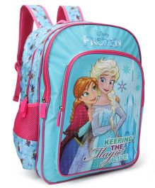 Disney Frozen School Bag Blue Pink - Height 14 inches