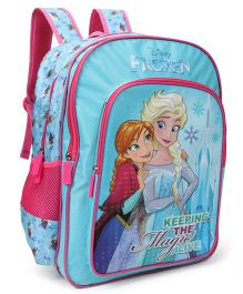 Disney Frozen School Bag Blue Pink - 18 inches