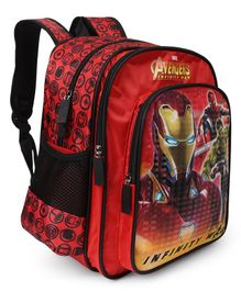 Marvel Avengers Inifinity War Iron Man School Bag Red - 14 inches